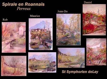 Perreux et st-symphorien de lay  8 peintures