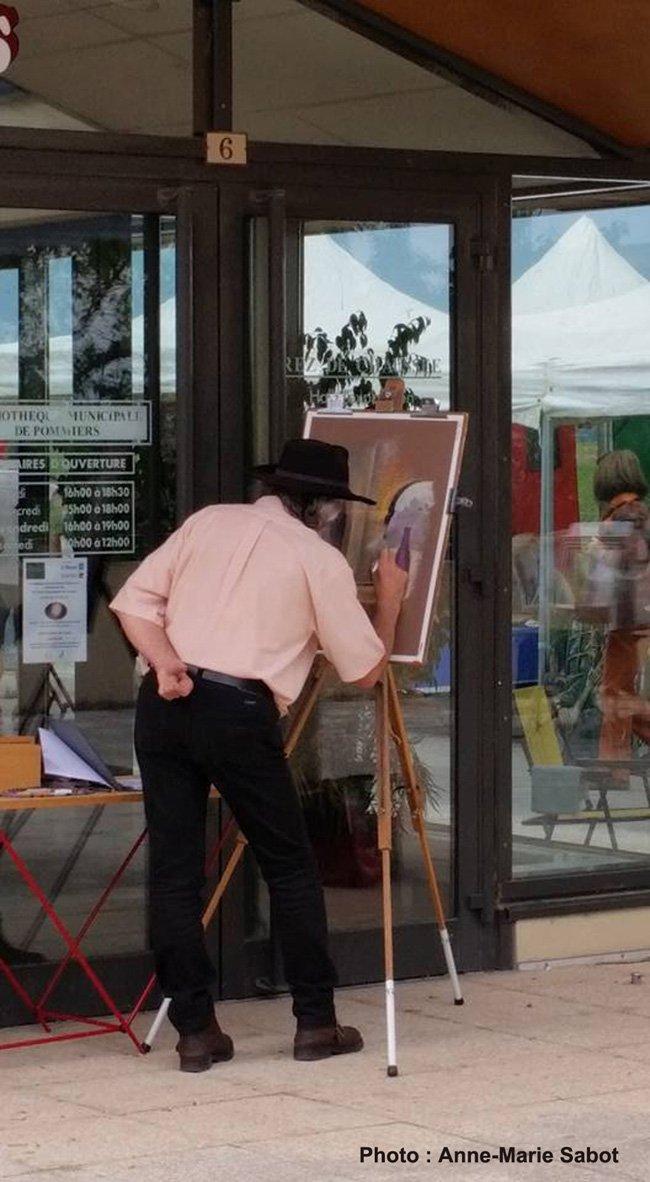 peinture en cours de réalisation