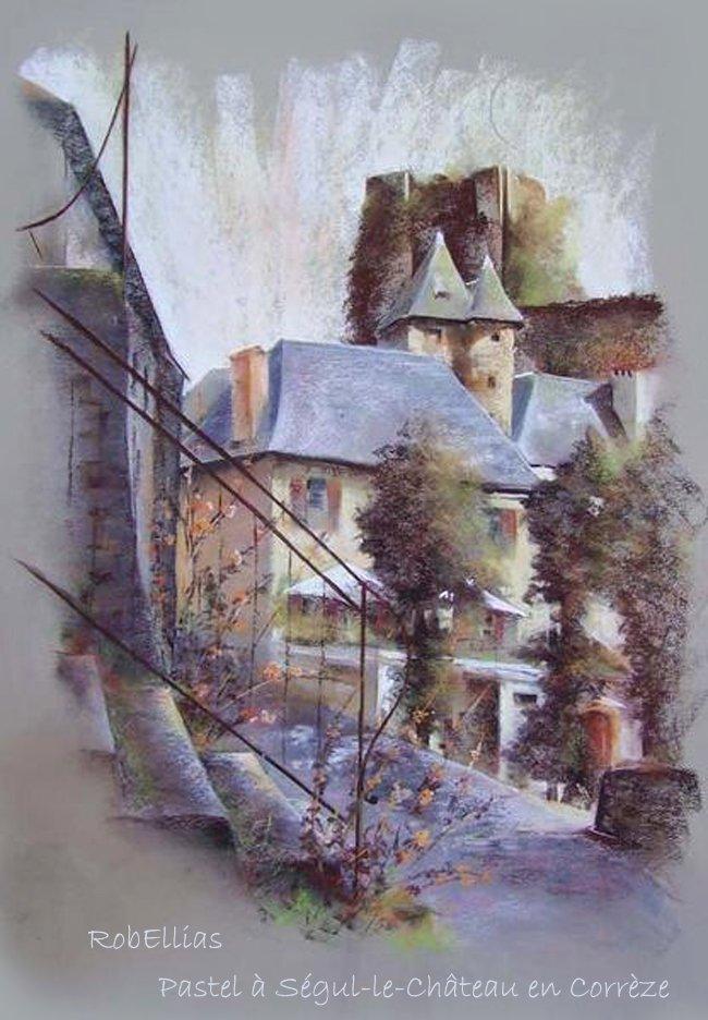 Pastel à Ségul-le-Château en Corrèze