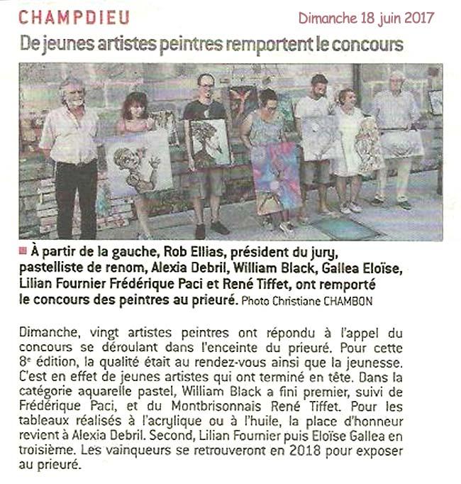 Juin 2017 journée des peintres a Champdieu