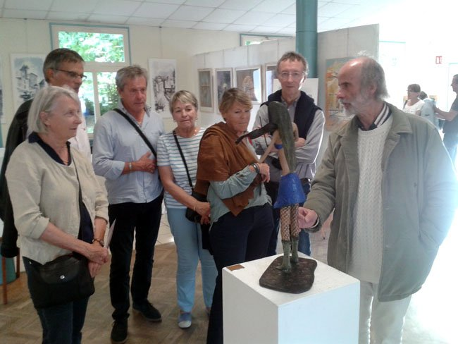 Les Roannais en visite à l'expo avec Marc Roure
