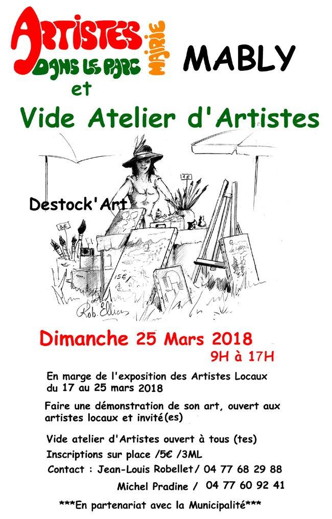 peindre et  vide atelier d'artistes dans le parc du 17 au 25 mars 2018