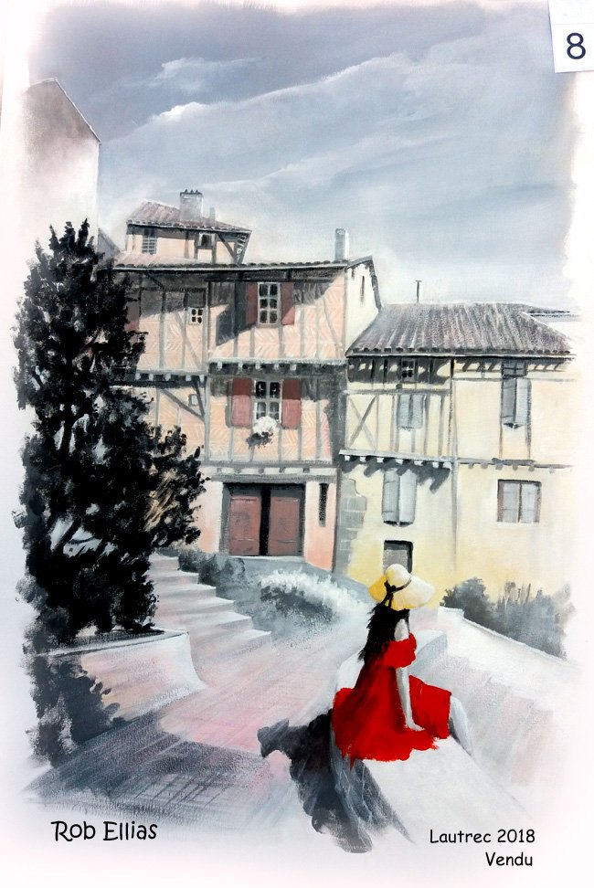 Lautrec toile 2018 vendu à Nadine Bonnin Castres